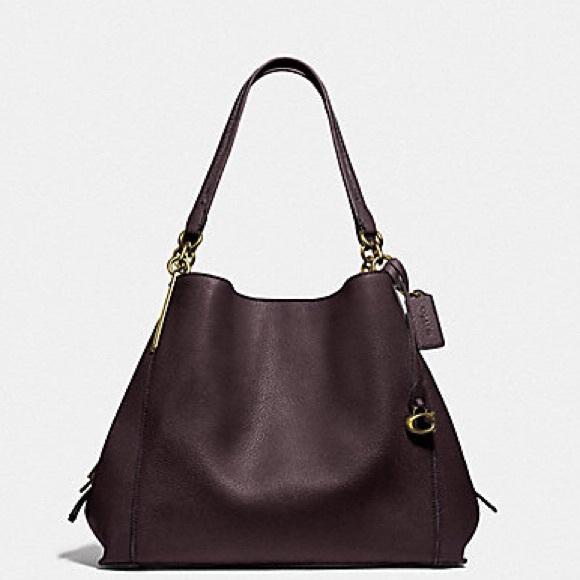 Authentic Coach 1941 Dalton 31 Oxblood Leather Bag